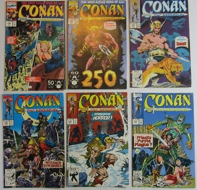 Conan The Barbarian 6 Issue Lot #249 250 251 252 254 & 255 FN/VF  Marvel Comics