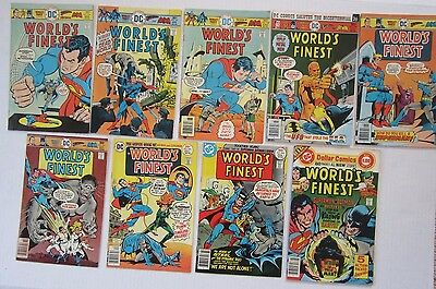 WORLD'S FINEST 9 ISSUE RUN #236 237 238 239 240 241 242 243 244 VG/FN DC Comics!