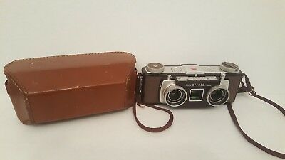 Vintage Kodak Stereo Camera  with Leather Case -  great Condition