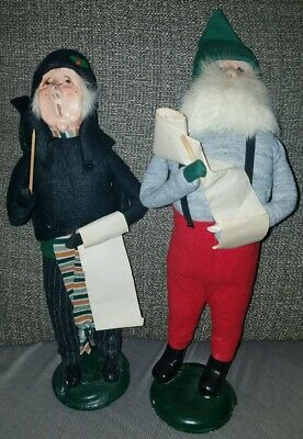 Lot Of 2 Rare Vintage Retired Byer's Choice Carolers Man And Woman