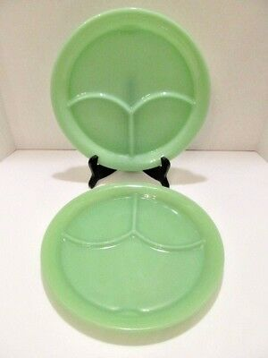 Fire King Jadeite Jadite Lot of 2 Grill Plates with Tabs EXCELLENT UNUSED COND