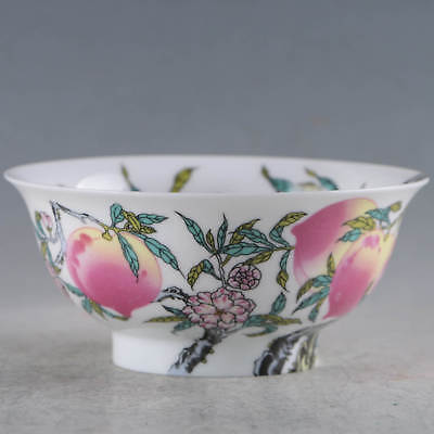 Chinese Porcelain Handmade Peach Bowls Made During The DaQing Qianlong Period
