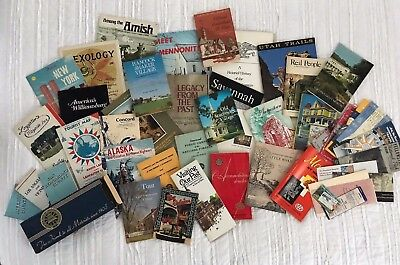 Lot of Vintage Travel Books, Brochures, Maps, Mostly USA, Auto Club, 1950s-70s