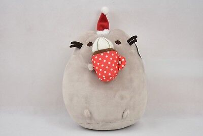 New GUND Pusheen Snackable Hot Cocoa Christmas Holiday Stuffed Animal Cat Plush