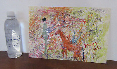 """Purvis Young - """"Angels Of Freedom"""" - Hand Signed Litho Print - Listed Artist COA"""