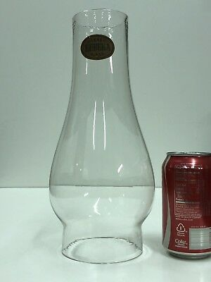 Antique c.1870-80's Eureka Large Store Size Clear Glass 4 in. Oil Lamp Chimney