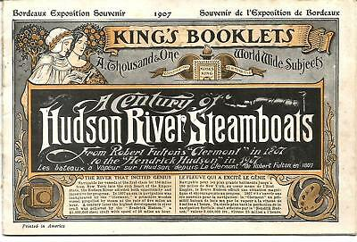 Hudson River Steamboats century.1807-1907.16 pages. RARE+++++