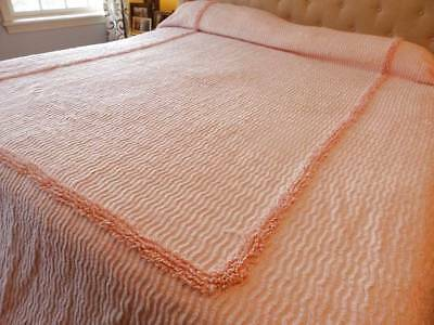 Great Vintage Chenille Bedspread~Pink!~92 X 104