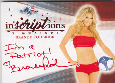 2017 Benchwarmer America The Beautiful Brande Roderick Inscriptions Auto /1 1/1