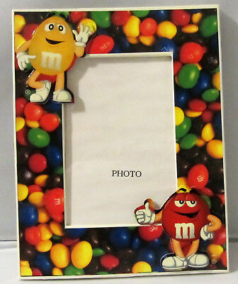 M&m's Colorful Photo Frame - Item #162 - Red And Yellow On The Frame