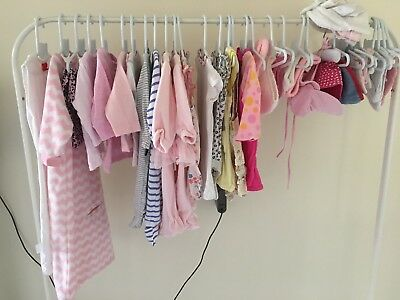 Baby Girl Clothes Bulk Newborn Size 0000 designer inc Guess, Bonds - 41 Pieces