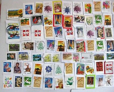 300 Stamps AUSTRALIAN KILOWARE On Paper, MOSTLY RECENT to $3 ALL PHOTOGRAPHED