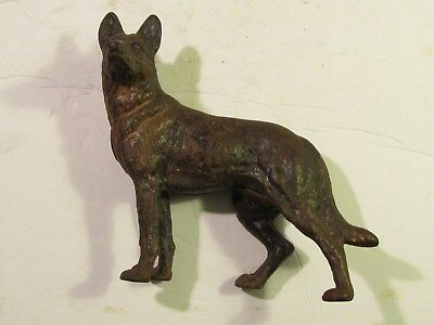 Antique Hubley Cast Iron German Shepherd Door Stop