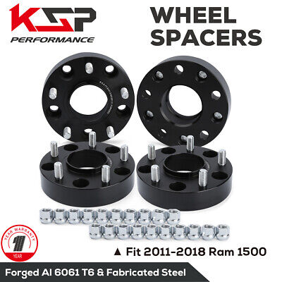 4Pcs 1.5(38mm) 5x5.5 to 5x5.5 Hub Centric Forged Wheel Spacers M14X1.5 for Dodge