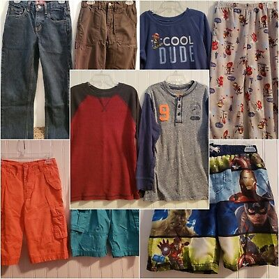 Boys Size 8 Huge Lot, Shirts, Jeans, Pajamas, Shorts, Swim Trunks