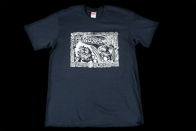 51dea9fcbc86 Supreme Faces Tee Navy Size Large Fw18 T-Shirt Black Red White Box Logo Cdg