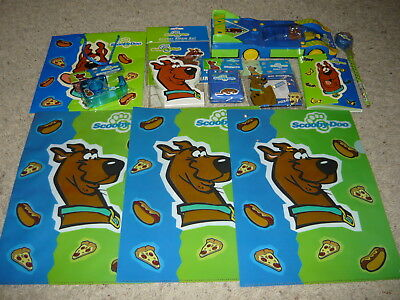 WBSS Scooby Doo Collection Lot Beeper & Pencil Case Tape Dispenser Memo Pad +