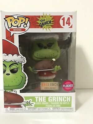 Funko Pop The Grinch Flocked #14 Box Lunch Brand New
