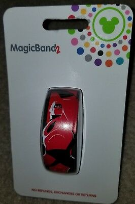 NEW Disney Parks Magic Band The Incredibles 2 Mr. Incredible Dad LINK IT LATER