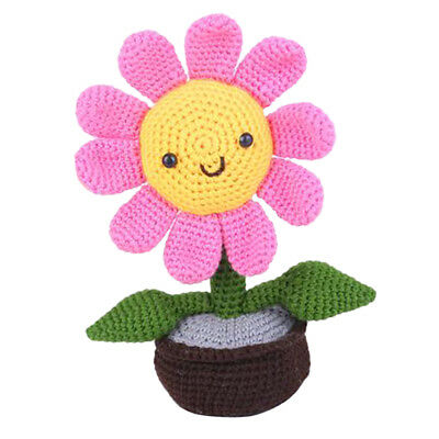 DIY Crochet Kits Knitting Materials Hnadmade Floral Toy for Children Gifts