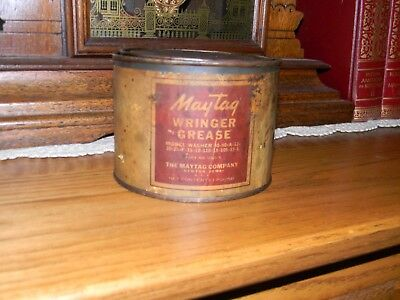 Maytag Grease Can With Paper Label
