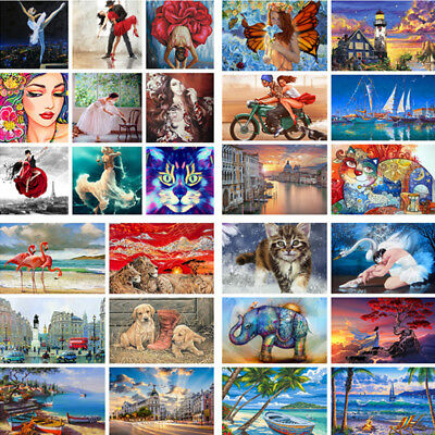 DIY Digital Paint By Number Kit Acrylic Oil Painting Wild Animal Art Home Decor