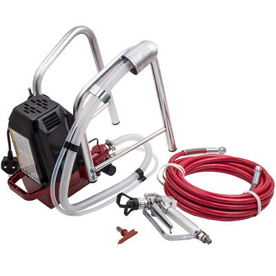 High-Pressure AIRLESS INTERIOR WALL PAINT SPRAY SPRAYER GUN KIT MACHINE