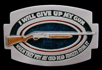 I/'ll GIVE UP MY GUN WHEN...NRA BELT BUCKLE BUCKLES