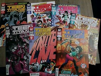 Teen Titans 20,21,22,23,24,25, Special 1 (2018) + Free Comic Book