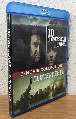 10 CLOVERFIELD LANE & CLOVERFIELD (Blu-Ray, 2016) 2-MOVIE/2-DISC COLLECTION