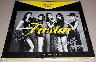 FIESTAR BLACK LABEL 1st Mini Album REAL SIGNED AUTOGRAPHED PROMO CD