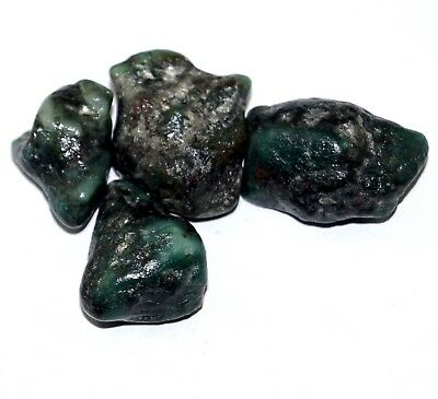 Beautiful Look 171 Ct 4 Pcs Natural Green Emerald Rough Lot Gemstone Best Offer