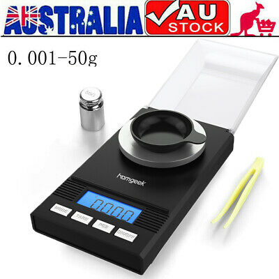 50/0.001g Pocket Digital Scales Jewellery Gold Weighing Mini LCD Electronic Z9D5