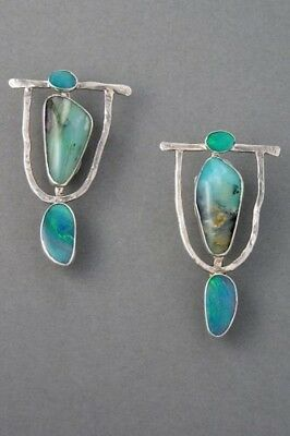 Lady 925 Silver Plated Turquoise Hoop Dangle Earrings Wedding Birthday Fashion
