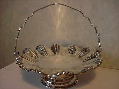 Antique Victorian Joseph Rodgers Silver Plated Handled Fruit Basket/dish/stand
