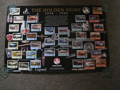 Holden  Rare Poster. The Holden Story 1948--1996 Commodore