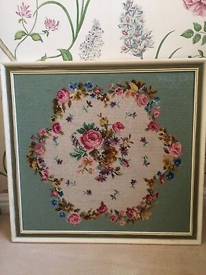 Vintage Floral / Roses Tapestry Picture