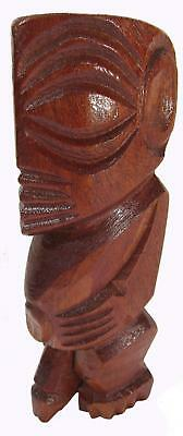 Hand Carved Fisherman God Statue Sculpture Cook Islands 14.5 cm Tall