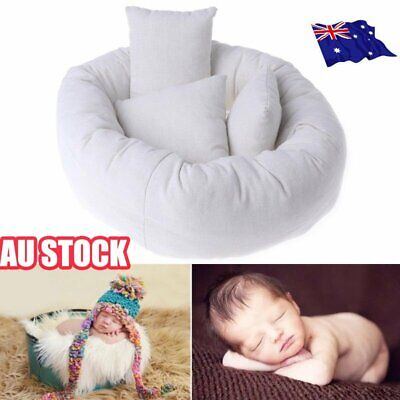 4PCS Newborn Baby Photography Pillow Basket Filler Wheat Donut Posing Props OD