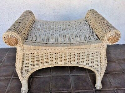 Miraculous Pier 1 One Jamaica Imports Wicker Wood Vanity Stool Caraccident5 Cool Chair Designs And Ideas Caraccident5Info