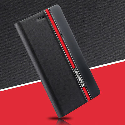 For Samsung Galaxy Note 3 4 5 Note 8 9 Leather+Silicone Wallet Flip Case Cover