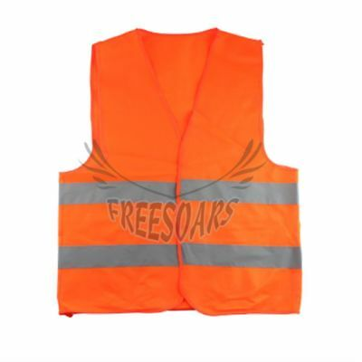 1pc Safety Vest Orange Security High Visibility Reflective Traffic Warehouse