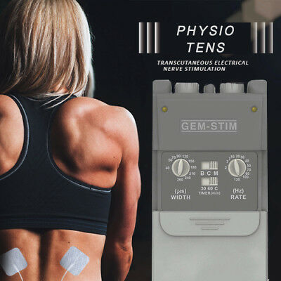 Professional Physio TENS Machine Unit 2019 + 12 High Quality Pads Fast Post