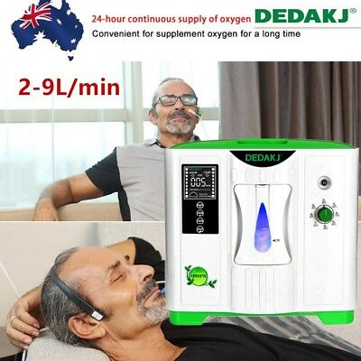 2-9L/min Portable Full Intelligent Home Oxygen Concentrator Generator Machine AU