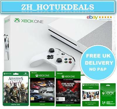 XBOX ONE S console 1TB Boxed with control Accessories and