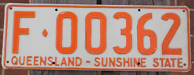 License Plate Number Plate QLD Farm Vehicle F00362