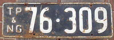 License Plate Number Plate TP & NG Passenger Car 1960s era
