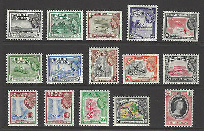 BRITISH GUIANA QEII 1953-63 LMM CORONATION + SET TO $1 with 48c shades SG330-43