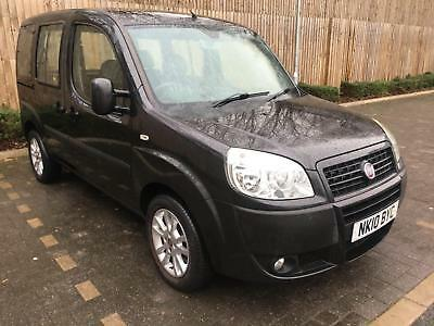 2010 10 Black Fiat Doblo 1.4 8v Dynamic