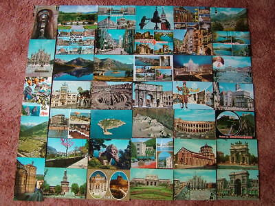 40 Unused Postcards of ITALY & ISLANDS. Good condition.
